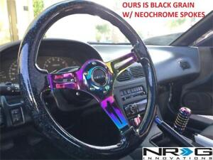 NEW NRG WOOD GRAIN STEERING WHEEL RST-018BK-MC 207678226 CAR OFF ROAD USE ONLY