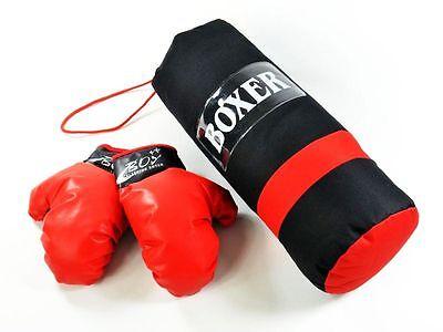 Box Set mit Handschuhen Kinder Junior Boxsack Boxset 1kg gefüllt Neu