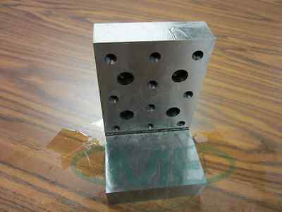 Angle Plate 6x4x4x1-14 Precision Ground W. Tapped Holes 0.0002 Pgap-644-new