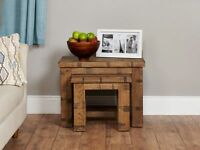 Shipton Rustic Nest of Two Coffee Tables