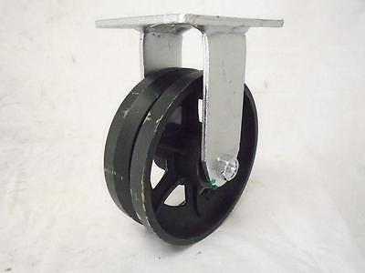 6 X 2 Rigid Caster 78 V-groove Iron Steel Wheel 1000 Lbs