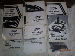 POLARIS  SNOWMOBILE  PARTS MANUALS   1971--1980 Kitchener / Waterloo Kitchener Area image 1