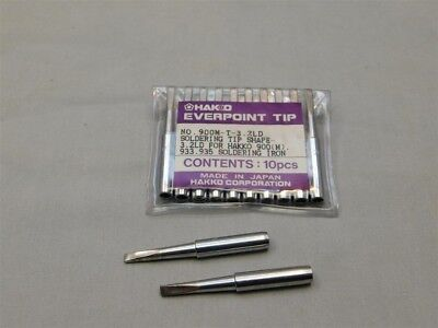 2 Genuine Hakko 900m-t-3.2ld Replacement Soldering Tip For 900m Iron Shape 3.2d
