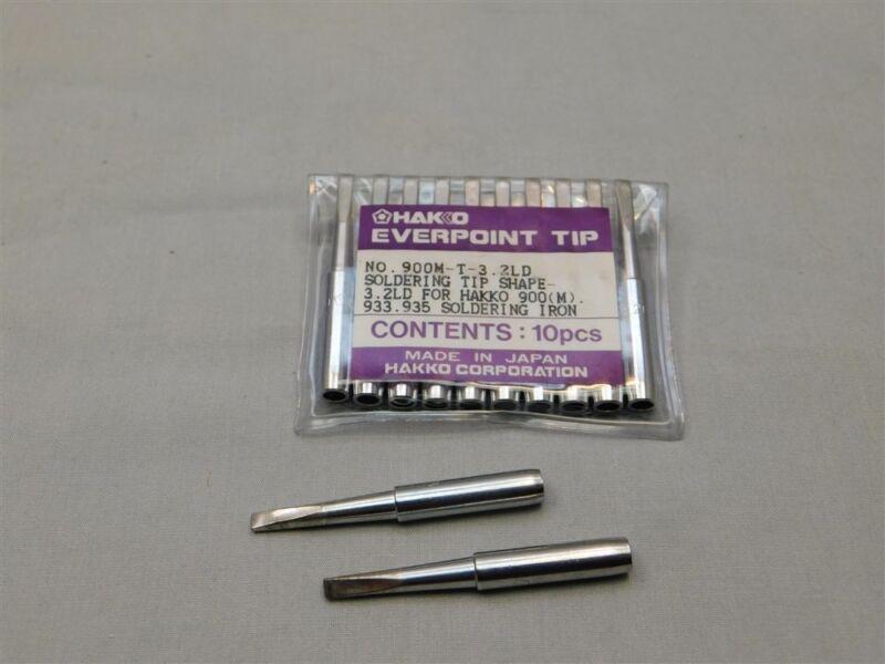 2 Genuine Hakko 900M-T-3.2LD Replacement Soldering Tip For 900M Iron Shape 3.2D