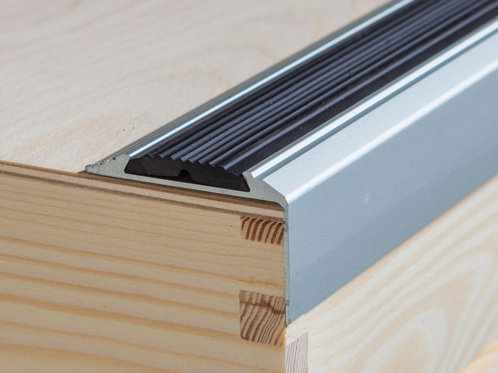 120 cm aluminium antislip trappen profiel trapprofielen hoek profiel