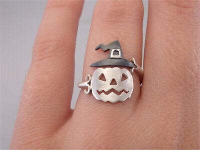 Cute Halloween Pumpkin Finger Ring Women Open Adjustable Rings Party Jewelry