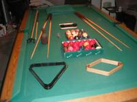 4 x 8 Dufferin pool table with light & extras
