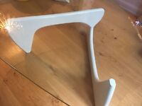 Designer Vitra Noguchi Coffee Table -Very Heavy Thick Glass Table