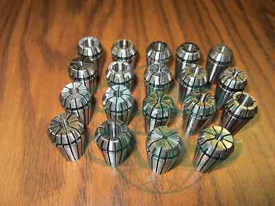 19pcsset Er16 Collet Set Complete Sizes Including All 16th 32nds 64th--new