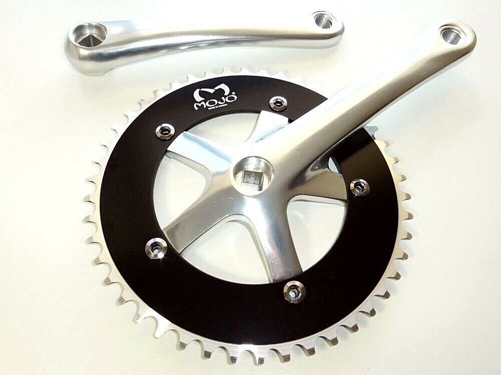 Fixed gear Single Speed Track Cranks Crankset 170mm 44t Black