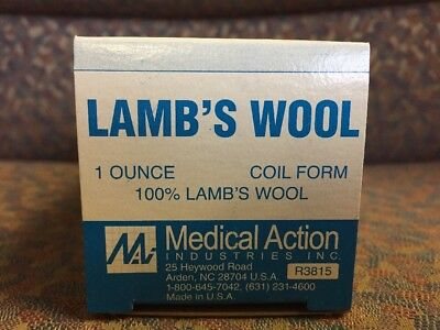 Medical Action Industries 100  Lambswool  1 Oz  Coil  45  Long    1 Pc