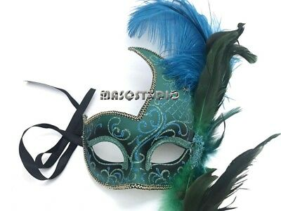 Masquerade Halloween Makeup (Masquerade Feather Mask Costume Prom Birthay Makeup Party Halloween)