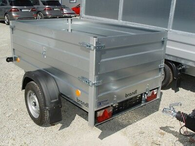 Pkw Anhänger mit Bordwandaufsatz 750 kg, Ladefläche 2,06 x 1,11 m
