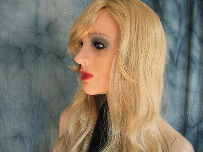 Latex Mask MARILYN +LASHES +WIG  Female Rubber Face Trans Girl Crossdresser (Female Latex Mask)