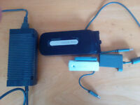 Xbox 360 Elite Hard drive + transfer cable + Wireless adapter