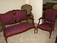 Victorian Loveseat and chair