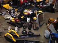 Lots of new and used 2003-2008 rev ski-doo parts