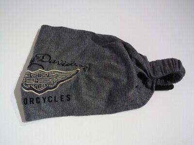 Harley Davidson B&S Winged Ladies Headscarf Bandana Hat Grey 99445-18VW