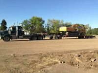 Heavy Equipment Lowboy Hauling Lowbed  Calgary 403 399 5103