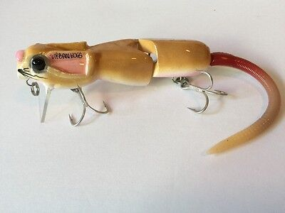 Swimbait  Rat Slow Sink Jointed  Rat By Urbanhogs Hand crafted Wake Bait