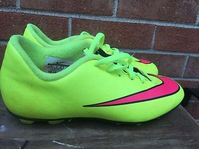 d8b6f151d NIKE Hot Lime PINK boys girls soccer cleats MERCURIAL Soccer Cleats Size  4.5 Y ~