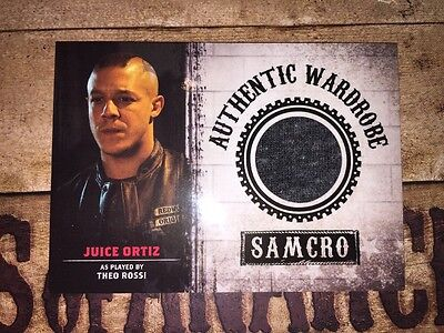 Sons Of Anarchy Authentic Wardrobe Piece Card Of Juice Ortiz