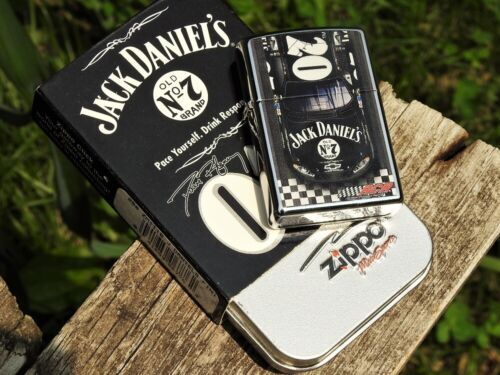 Zippo Lighter - Jack Daniels Racing -  Finish Line - Old No. 7 - NASCAR - Chevy