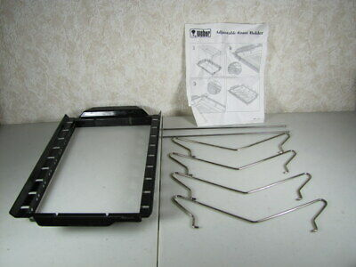 Rare Weber Grill Adjustable Roast Holder Model 9005 Grilling Accessories Roasting Rack Accessory