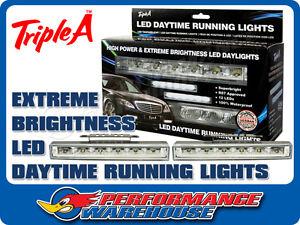 LED DAYTIME RUNNING LIGHTS HIGH POWER EXTREME BRIGHTNESS DAYLIGHTS
