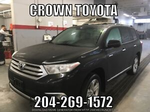 CERTIFIED! 2013 TOYOTA HIGHLANDER LIMITED V6 AWD! CLEAN CARPROO