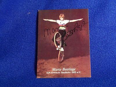 +++ Kunstrad Autogrammkarte +++ Maria Beerlage GER 1984