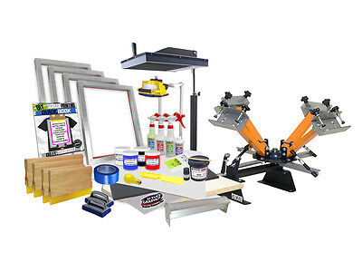 Diy 4 Color Shocker Start-up Screen Printing Kit - Press Flash Dryer - 41-6