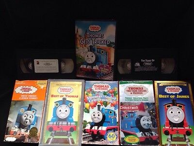 Lot of 8 Thomas the Tank Train Engine VHS tape Best of James Xmas 10 years (Best Thomas & Friends Of Trains)