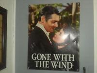 GONE WITH THE WIND poster LIKE NEW CONDITION )