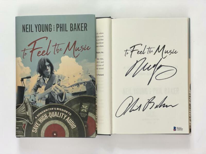 """NEIL YOUNG SIGNED AUTOGRAPH """"TO FEEL THE MUSIC"""" BOOK - CSNY, HARVEST, RARE! BAS"""