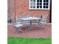 **FREE & FAST UK DELIVERY** 4-Piece Garden Vintage Grey Dining Table & Chairs Set
