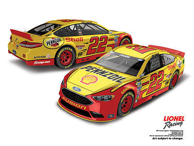2016 JOEY LOGANO #22 SHELL PENNZOIL 1/64 NASCAR DIECAST IN STOCK FREE SHIP