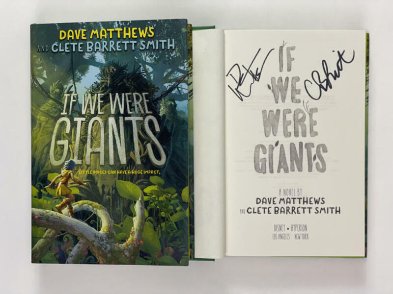 """DAVE MATTHEWS SIGNED """"IF WE WERE GIANTS"""" BOOK - BEFORE THESE CROWDED STREETS"""