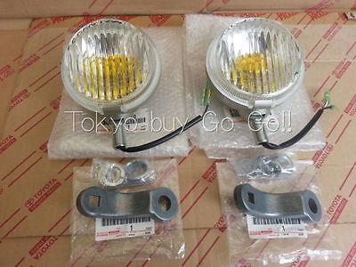 Toyota Land Cruiser Fog Lamp & Bracket LH + RH set Genuine Parts FJ40 FJ4# BJ4#