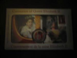 Coronation of Queen Elizabeth II Coin and Stamp