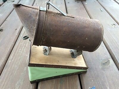 Antique Rusty Bee Smoker Vintage Primitive Tool Honey Hive Fogger Green Bellows