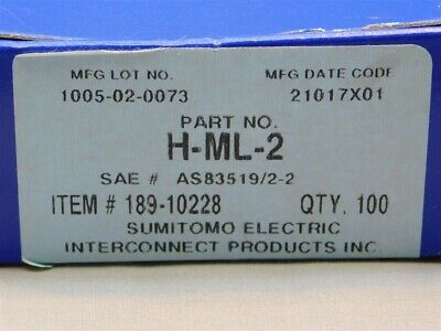 100 Mil-spec Sumitomo H-ml-2 M83519 2-2 Solder Termination Sleeves 20awg Lead