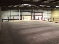 MEZZANINE FLOOR 18.5M X 10M WITH STAIRS DISMANTLED. AS NEW( STORAGE , PALLET RACKING )