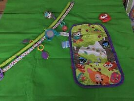 Fisher Price Forest Friends Baby Play Mat with 5 toys barely used