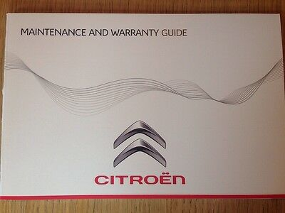 CITROEN SERVICE HISTORY & MAINTENANCE RECORD BOOK NEW GENUINE
