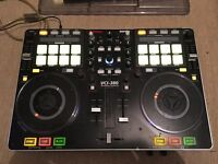 Vestax VCI 380 DJ Controller, Deck/Saver Dust Cover, UDG Case and Stanton Laptop Stand
