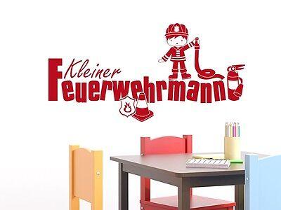Tattoo für Kinderzimmer Schriftzug Kleiner Feuerwehrmann (Feuerwehr-aufkleber Für Kinder)