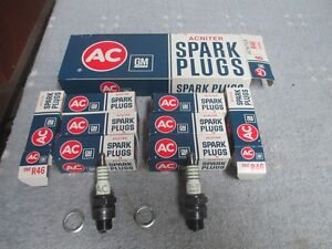 1950-1951-1952-1953-1954 Oldsmobile NOS AC R46 Spark Plugs new GM parts V8