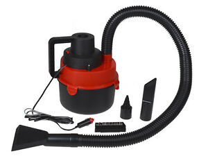 12V-Portable-Wet-Dry-Outdoor-Mini-Car-Boat-RV-Vacuum-Cleaner-Inflator-Pump-Red