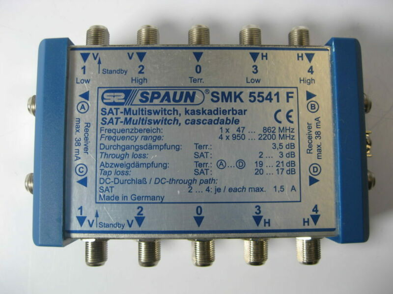 Spaun SMK5541F Cascadable Satellite Multiswitch - Free US Shipping